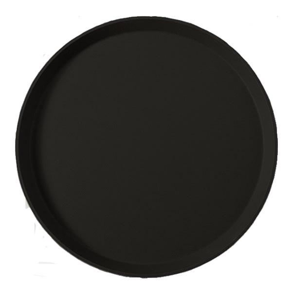 Δίσκος Fiberglass αντολ. στρογγυλός 35,5cm μαύρος