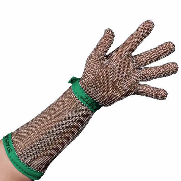Γάντι Μεταλλικό Βραχίονα 20cm XS STAHLNETZ Πράσινο