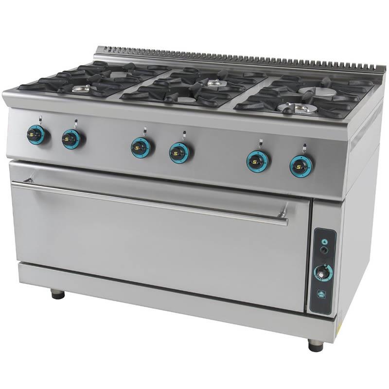 Κουζίνα αερίου 6 εστίες με φούρνο FC6FLS7 750 SERGAS