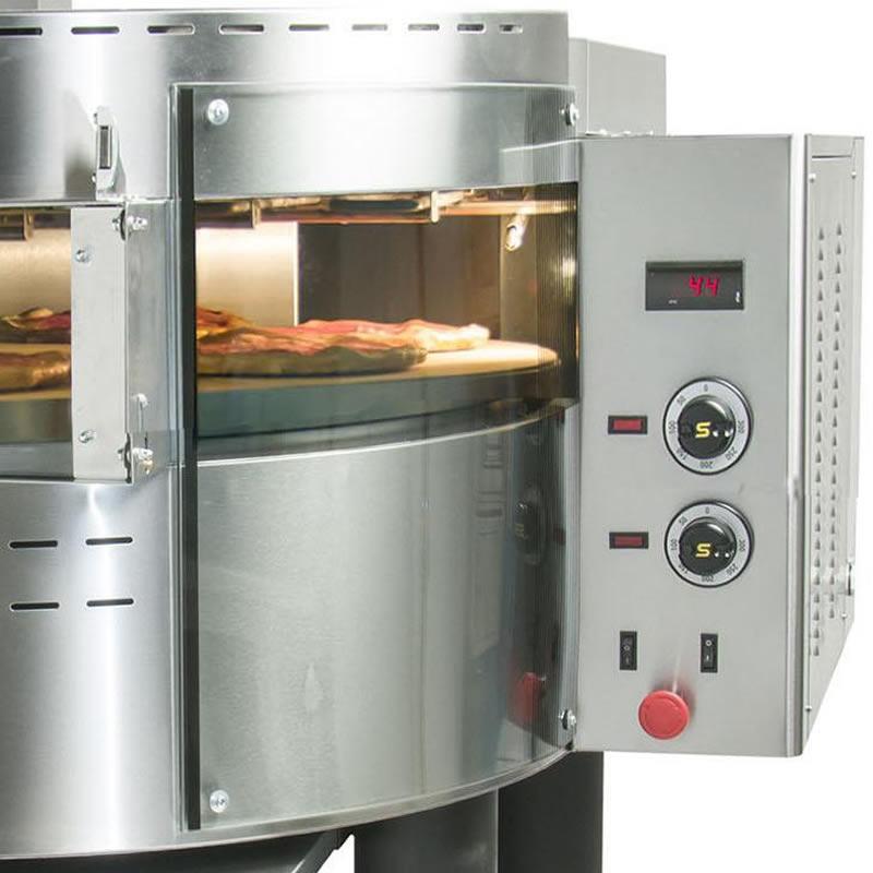 Φούρνος πίτσας EL μονός φ98 περιστρεφόμενος RPE1 SERGAS