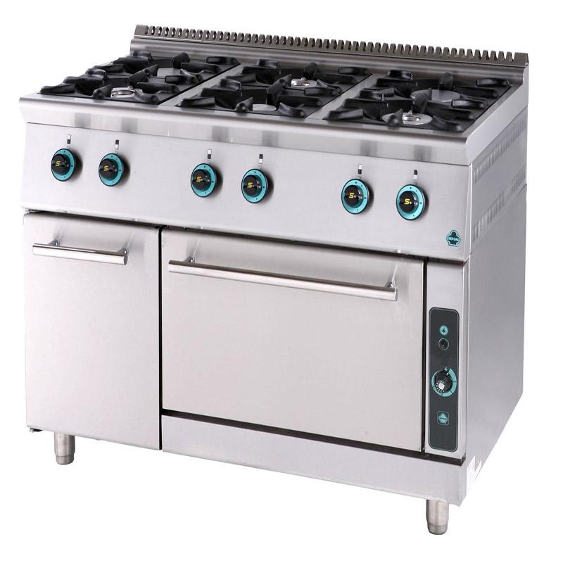 Κουζίνα αερίου 6 εστίες με φούρνο και ερμάριο FC6FS9 900 SERGAS