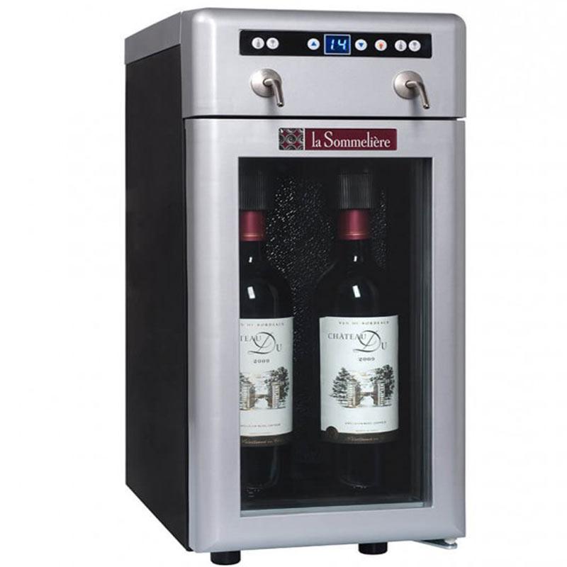 Διανεμητής κρασιού 2 φιάλες 1 ζώνη ψύξης DVV2 La Sommeliere