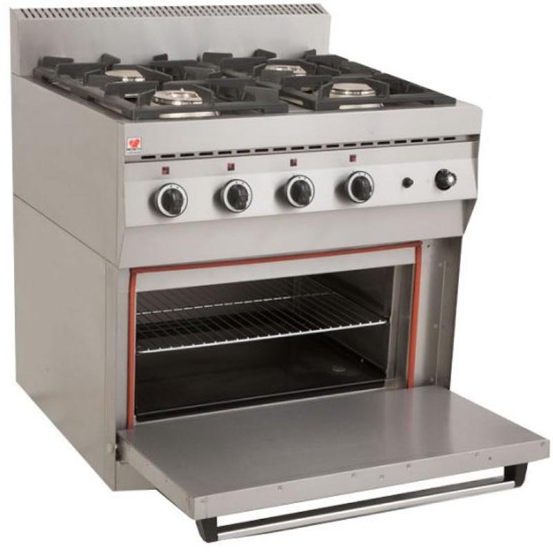 Κουζίνα υγραερίου 4 εστίες φούρνο FGASE400 S70 North