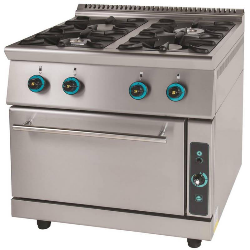 Κουζίνα αερίου 4 εστίες με φούρνο FC4FS7 750 SERGAS